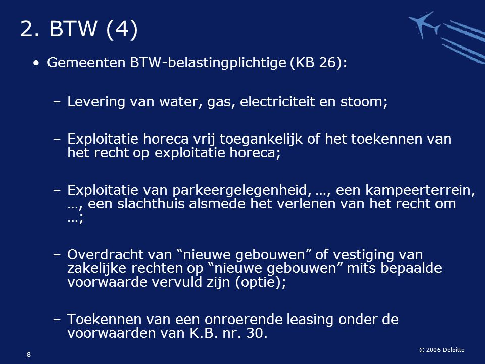 2. BTW (4) Gemeenten BTW-belastingplichtige (KB 26):