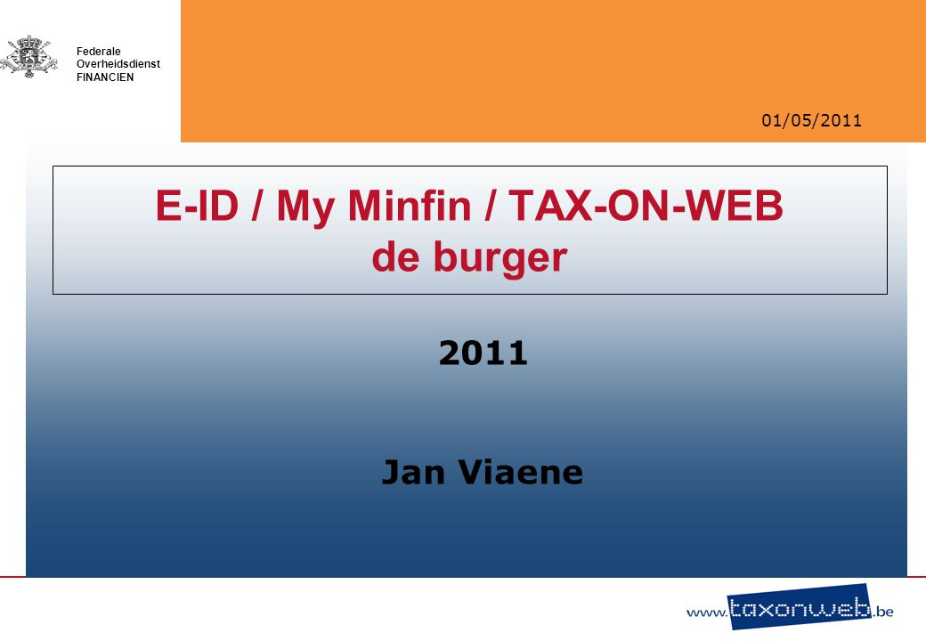 E-ID / My Minfin / TAX-ON-WEB de burger