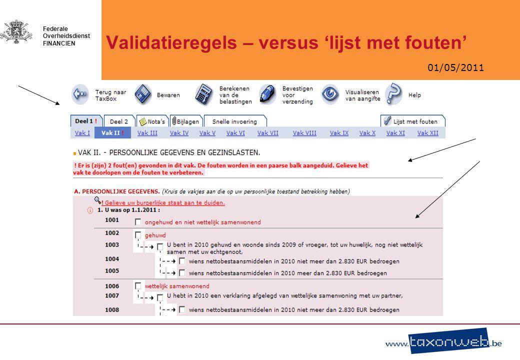 Validatieregels – versus 'lijst met fouten'