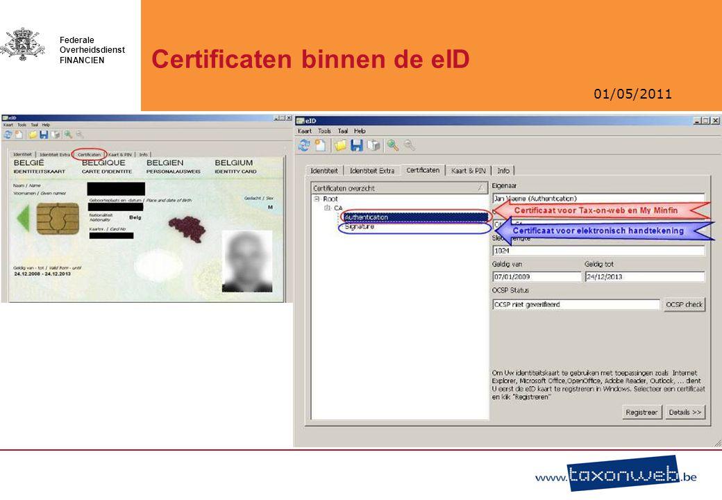 Certificaten binnen de eID