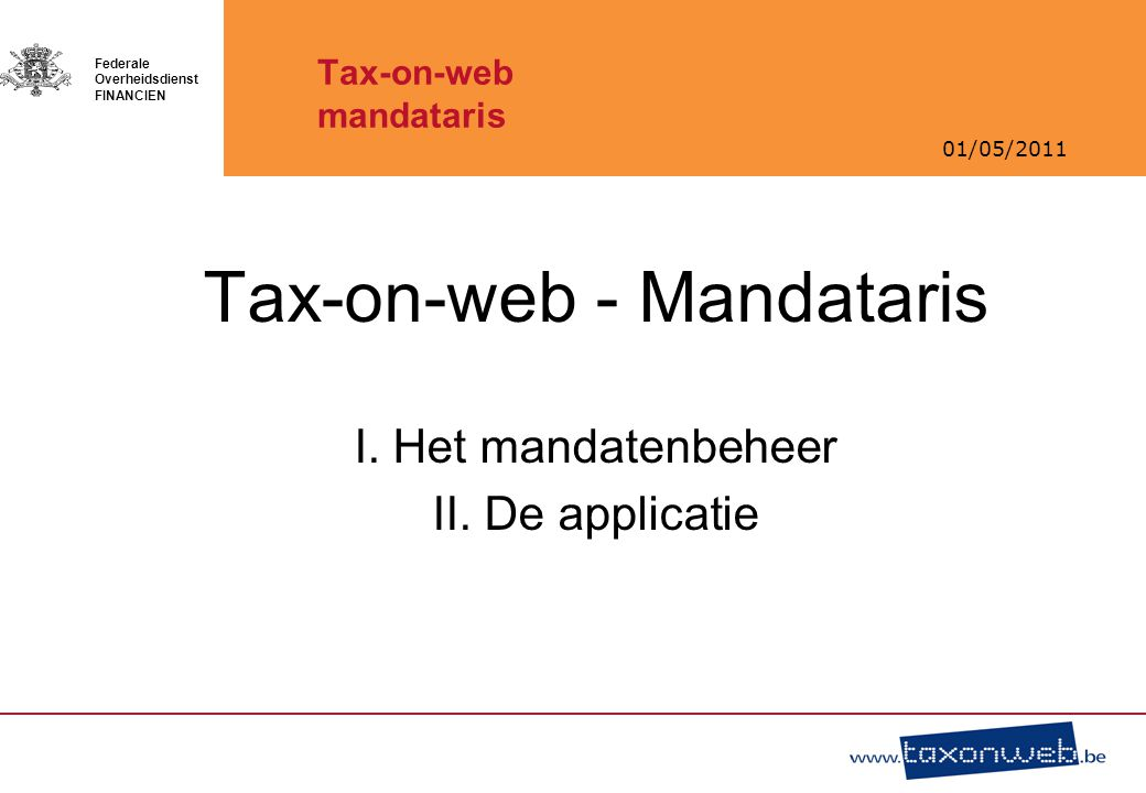 Tax-on-web mandataris
