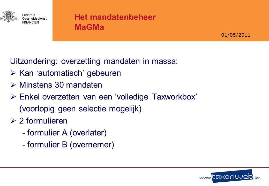Het mandatenbeheer MaGMa