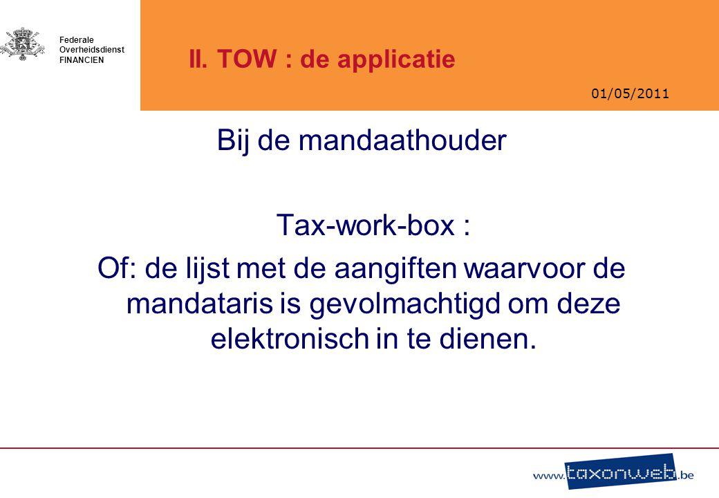 Bij de mandaathouder Tax-work-box :