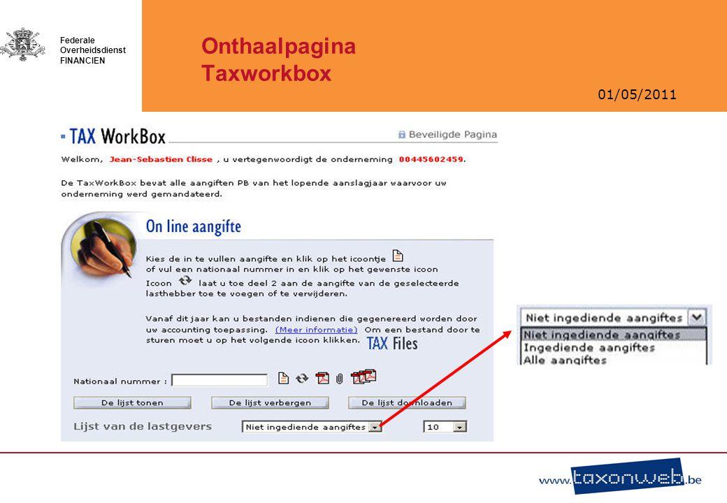 Onthaalpagina Taxworkbox