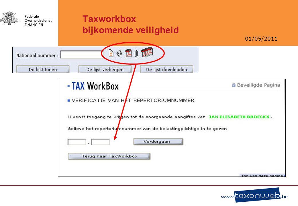 Taxworkbox bijkomende veiligheid