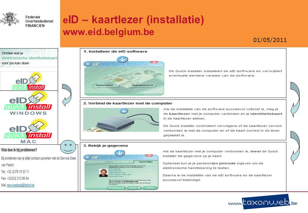 eID – kaartlezer (installatie) www.eid.belgium.be
