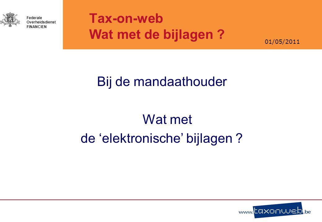 Tax-on-web Wat met de bijlagen