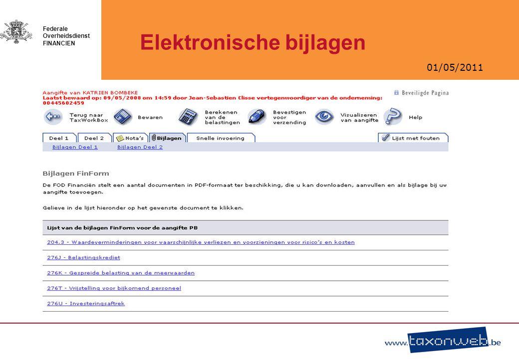 Elektronische bijlagen
