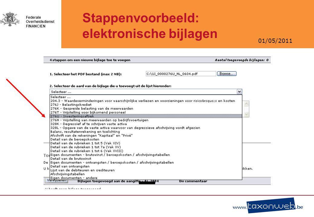Stappenvoorbeeld: elektronische bijlagen