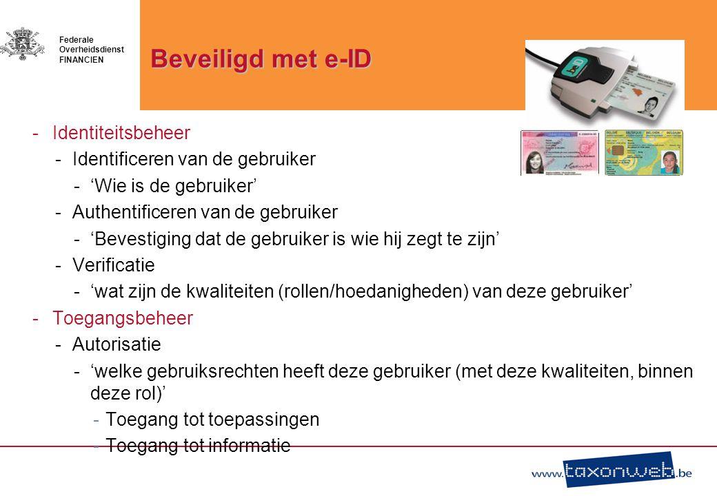 Beveiligd met e-ID Identiteitsbeheer Identificeren van de gebruiker