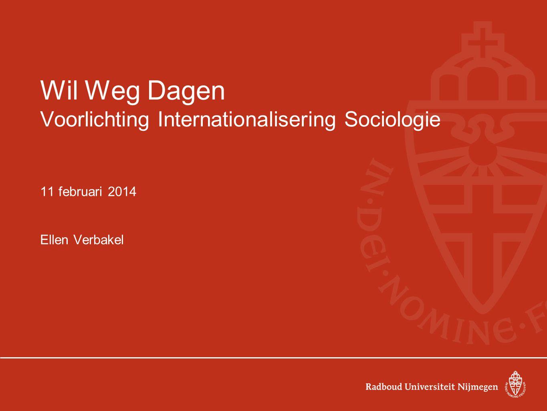 Wil Weg Dagen Voorlichting Internationalisering Sociologie