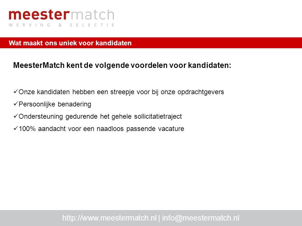 http://www.meestermatch.nl | info@meestermatch.nl