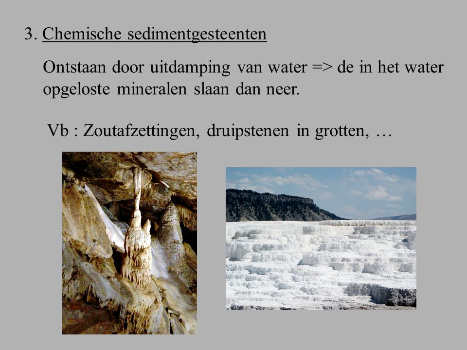 3. Chemische sedimentgesteenten