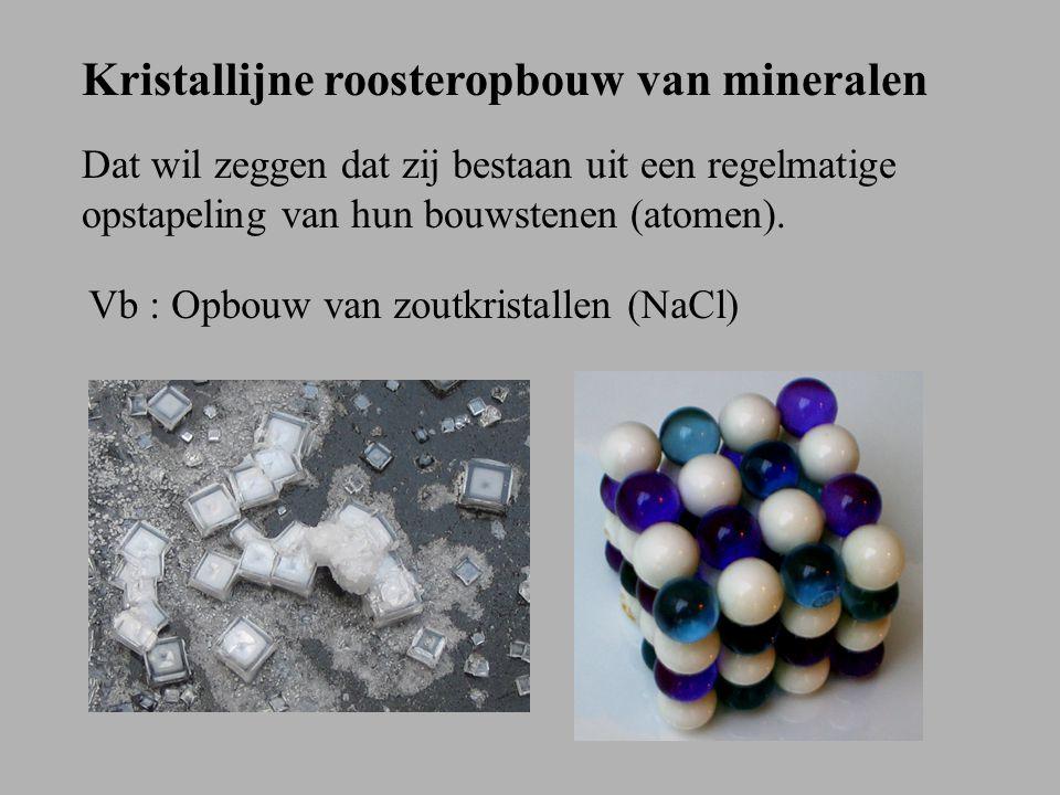 Kristallijne roosteropbouw van mineralen