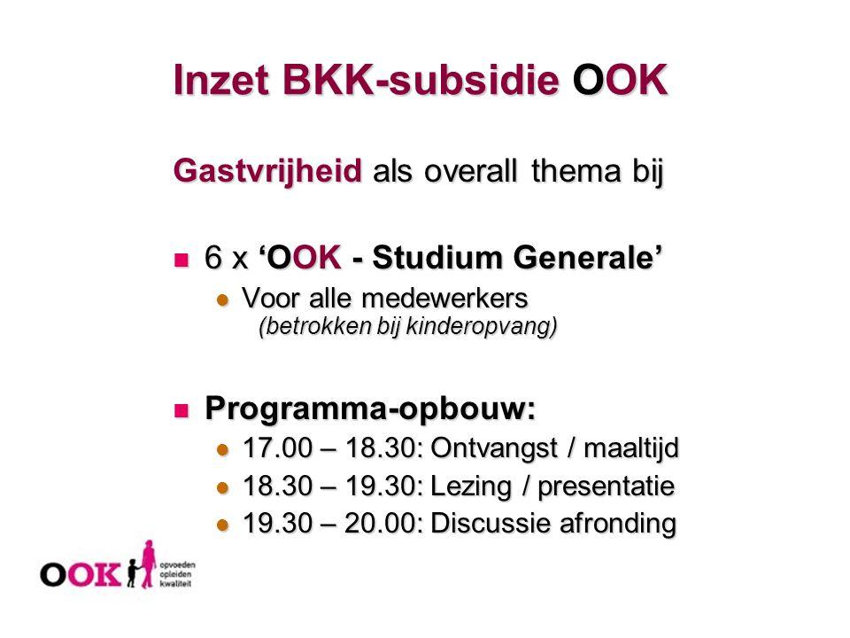 Inzet BKK-subsidie OOK