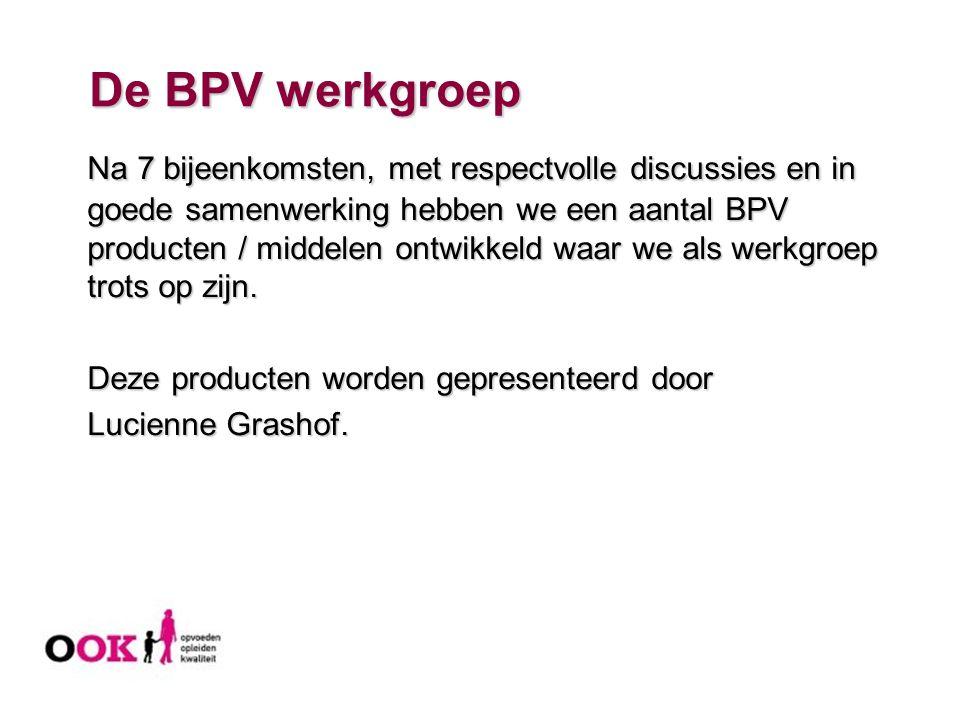 De BPV werkgroep