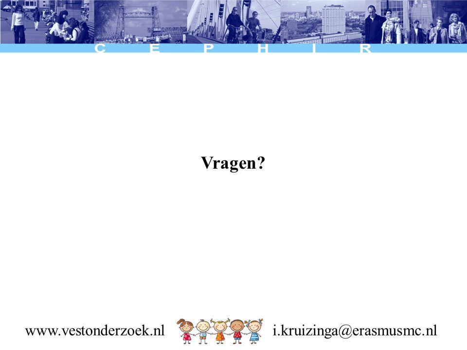 Vragen www.vestonderzoek.nl i.kruizinga@erasmusmc.nl