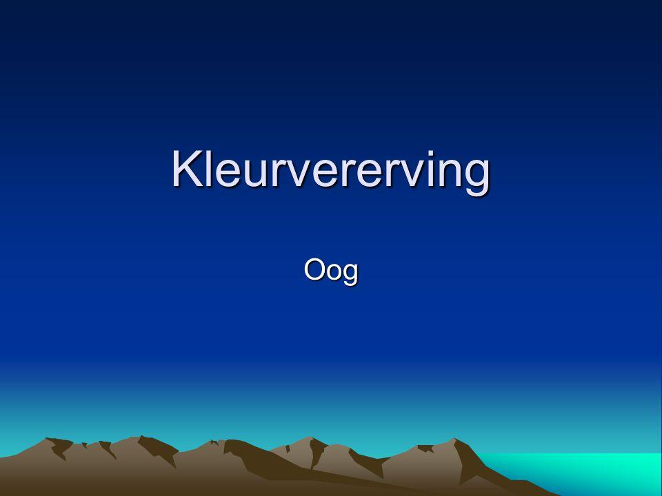 Kleurvererving Oog