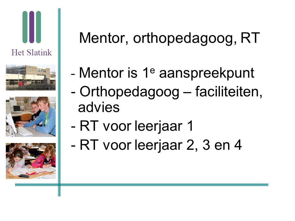 Mentor, orthopedagoog, RT