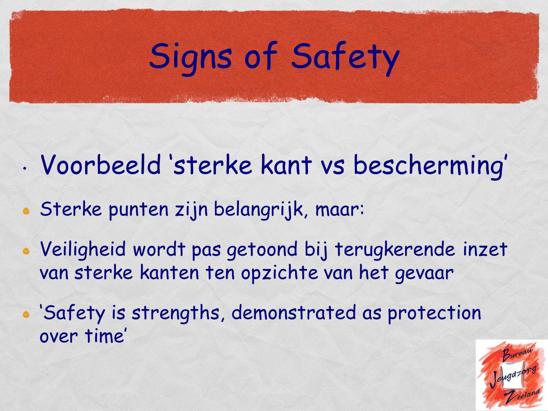 Signs of Safety Voorbeeld 'sterke kant vs bescherming'