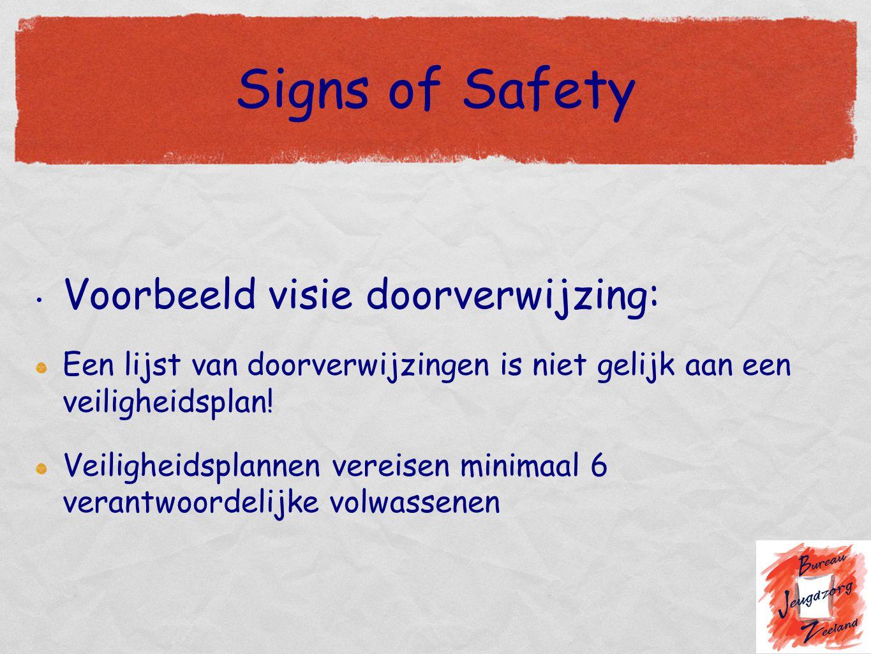 Signs of Safety Voorbeeld visie doorverwijzing:
