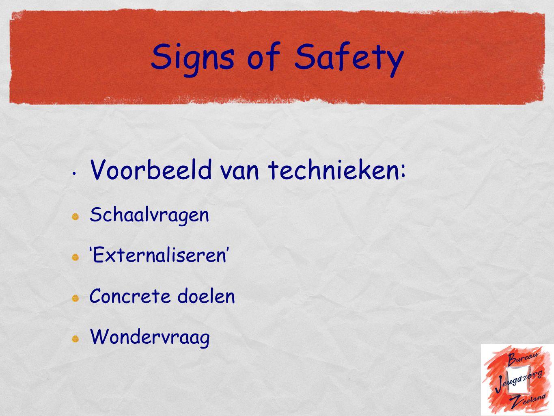 Signs of Safety Voorbeeld van technieken: Schaalvragen