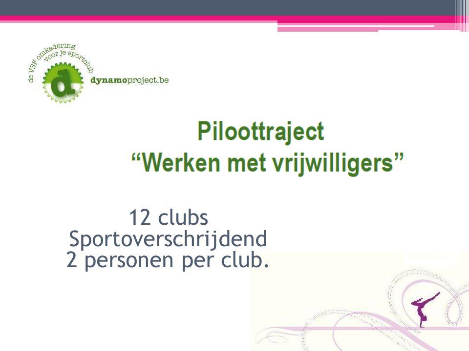 12 clubs Sportoverschrijdend 2 personen per club.