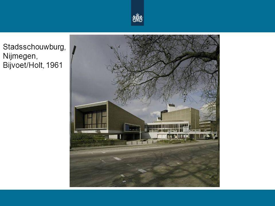 Stadsschouwburg, Nijmegen, Bijvoet/Holt, 1961