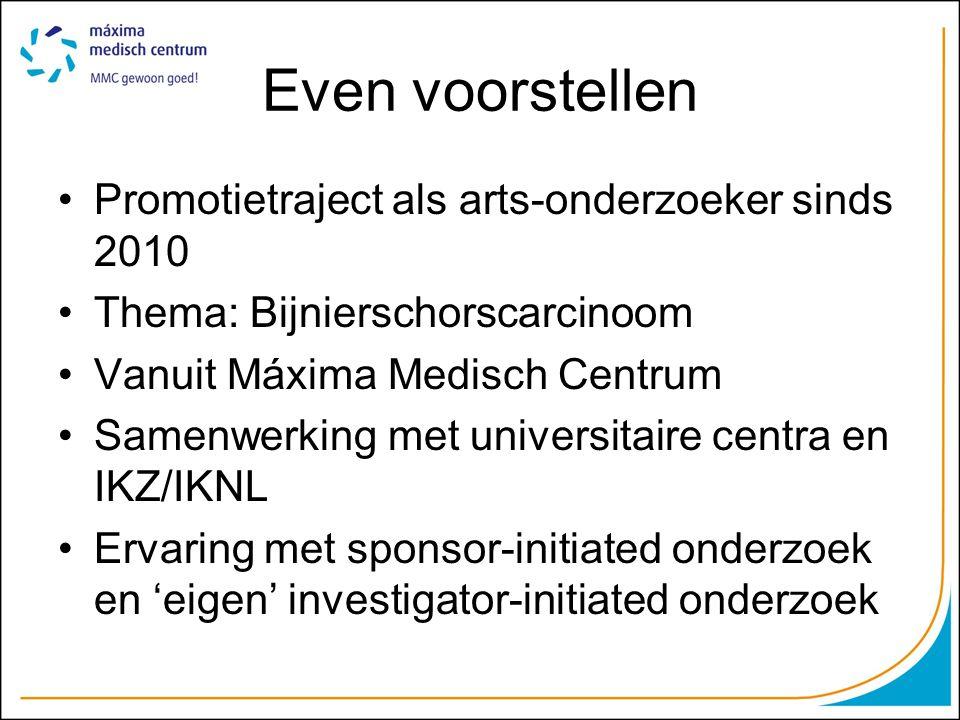 Even voorstellen Promotietraject als arts-onderzoeker sinds 2010