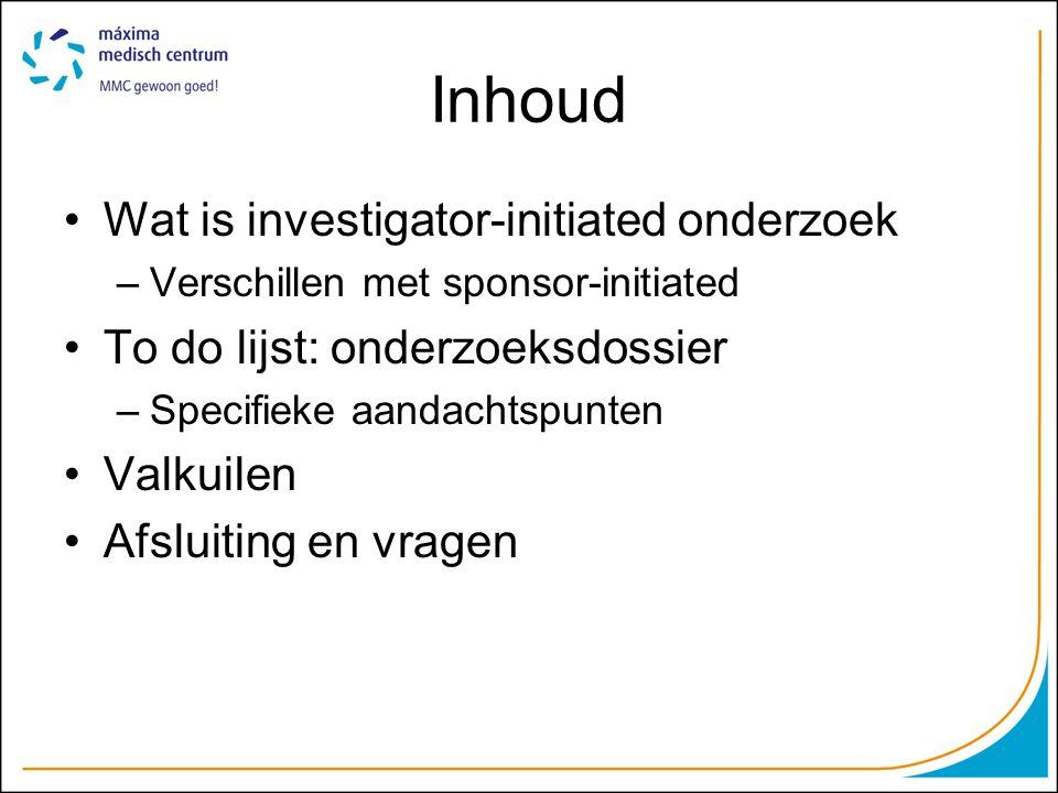 Inhoud Wat is investigator-initiated onderzoek