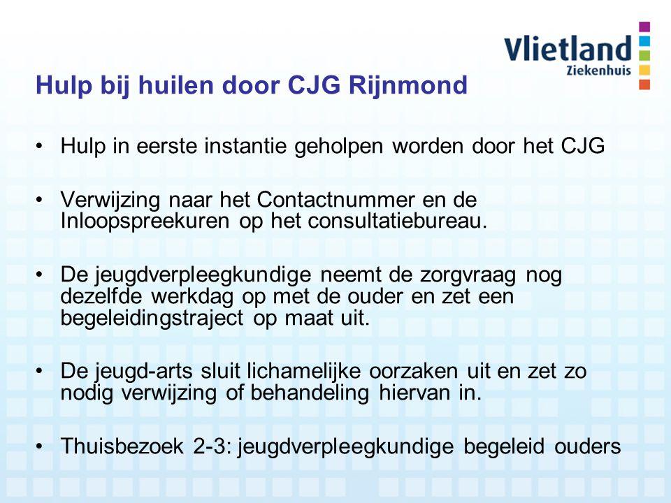 Hulp bij huilen door CJG Rijnmond