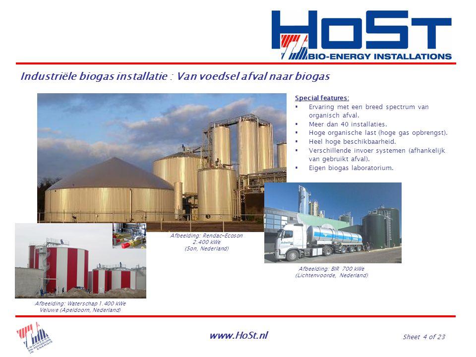 Industriële biogas installatie : Van voedsel afval naar biogas