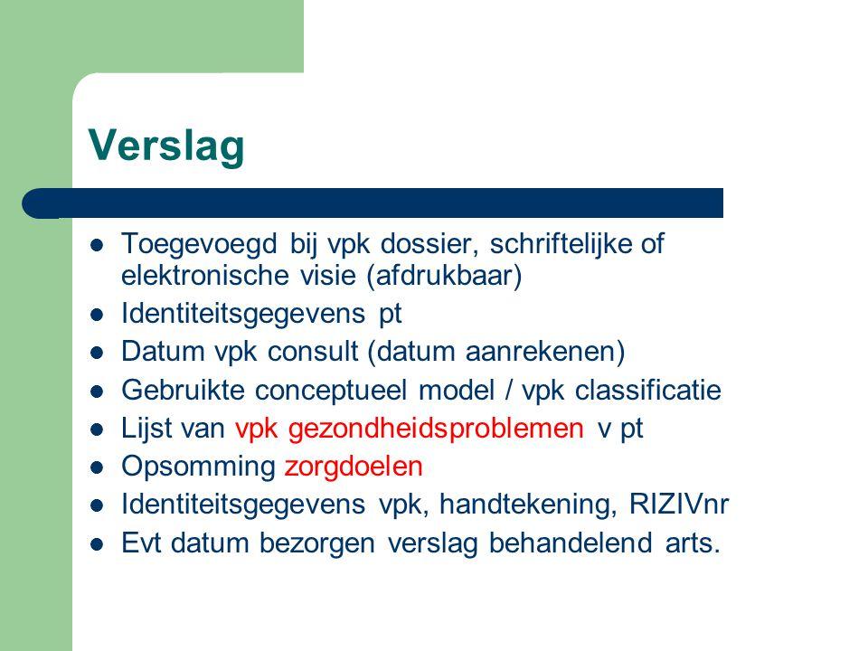 Verslag Toegevoegd bij vpk dossier, schriftelijke of elektronische visie (afdrukbaar) Identiteitsgegevens pt.
