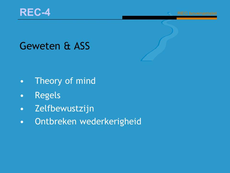Geweten & ASS Theory of mind Regels Zelfbewustzijn
