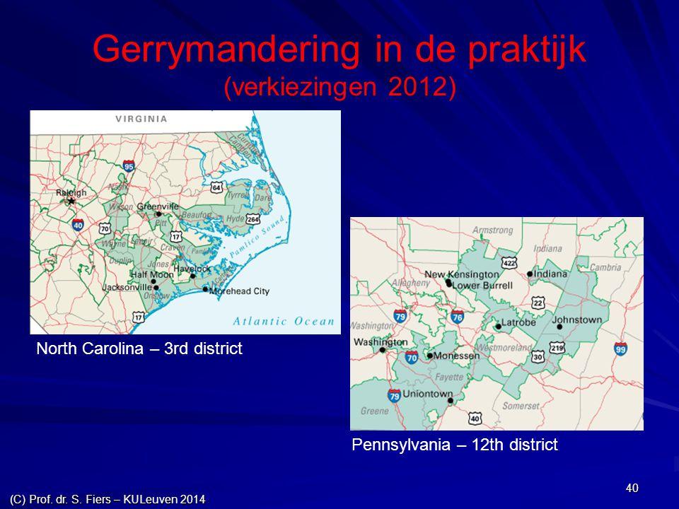 Gerrymandering in de praktijk (verkiezingen 2012)