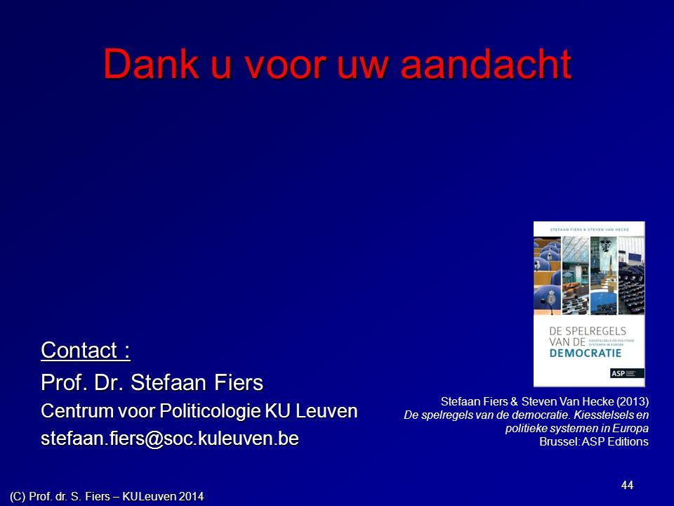 (C) Prof. dr. S. Fiers – KULeuven 2014