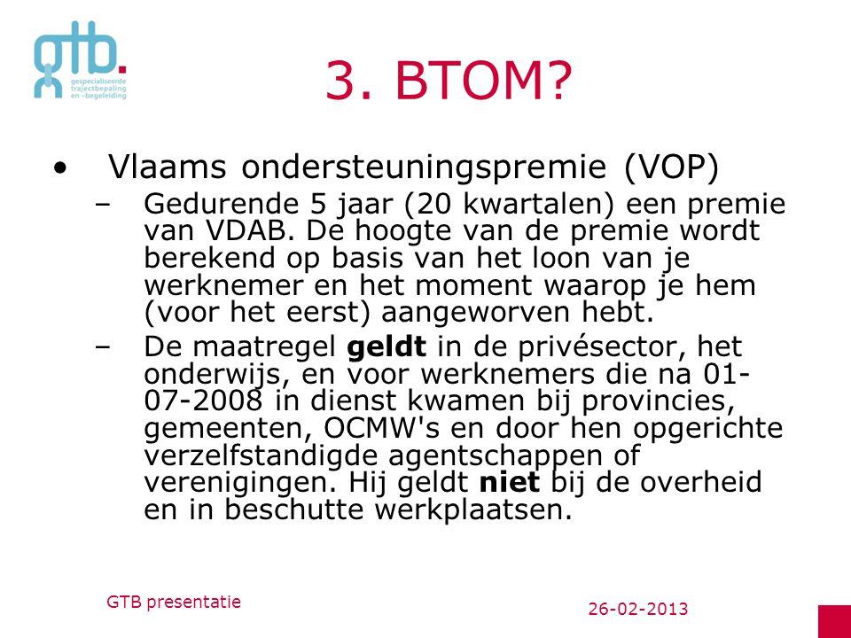 3. BTOM Vlaams ondersteuningspremie (VOP)