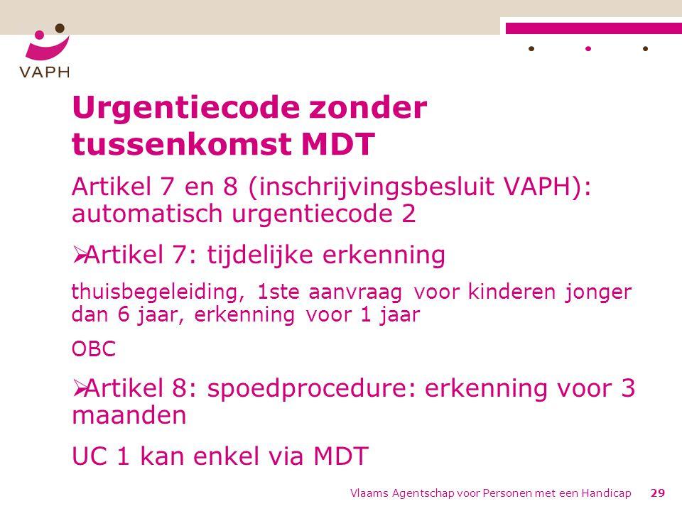 Urgentiecode zonder tussenkomst MDT