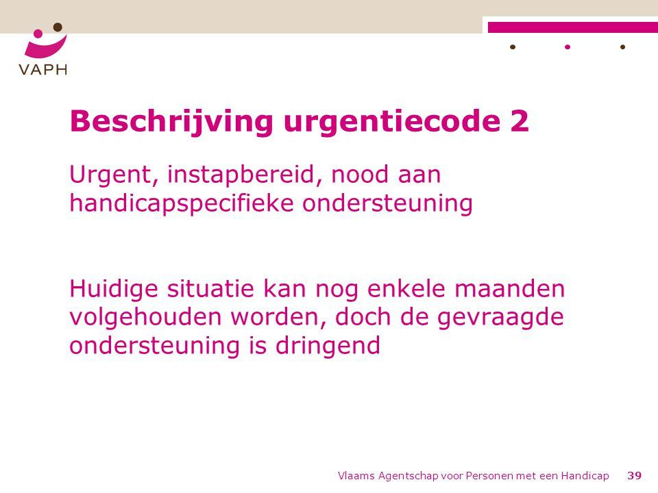 Beschrijving urgentiecode 2