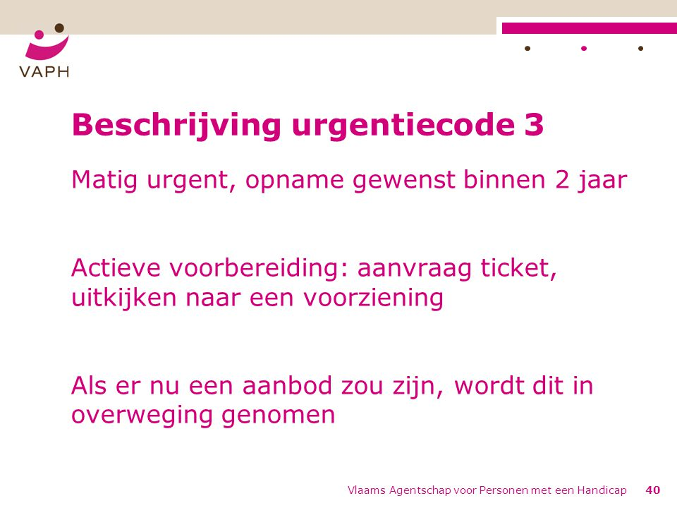 Beschrijving urgentiecode 3