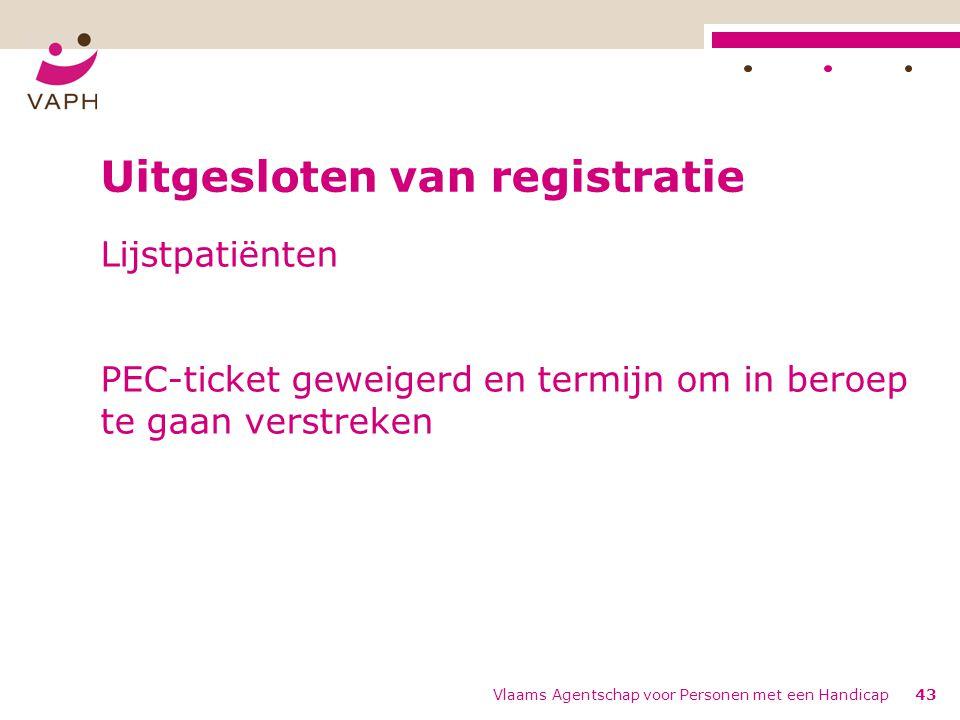 Uitgesloten van registratie