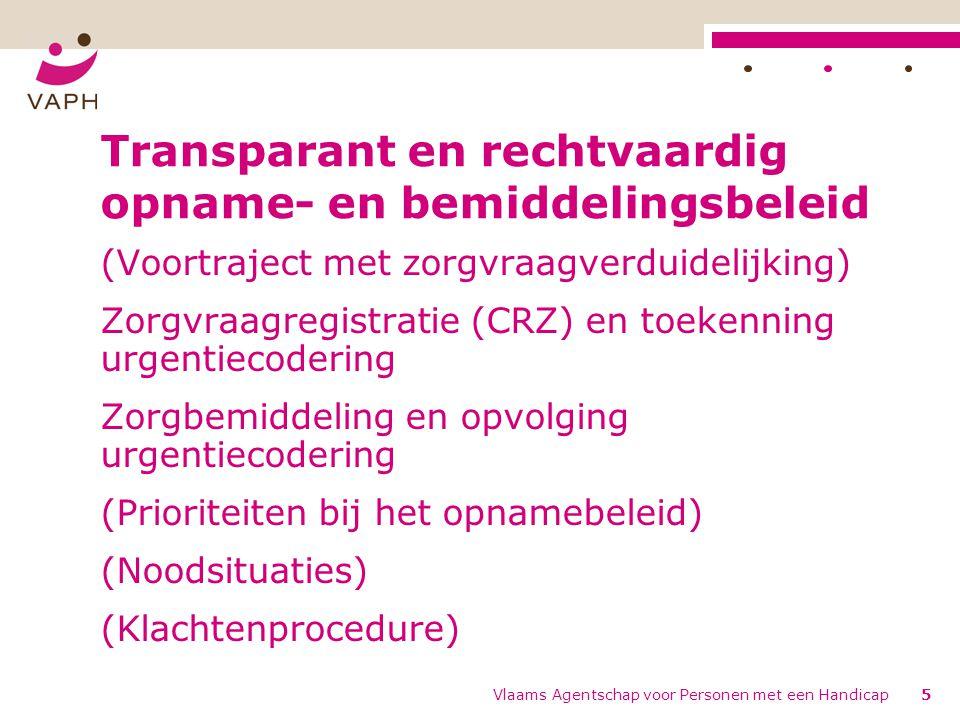 Transparant en rechtvaardig opname- en bemiddelingsbeleid