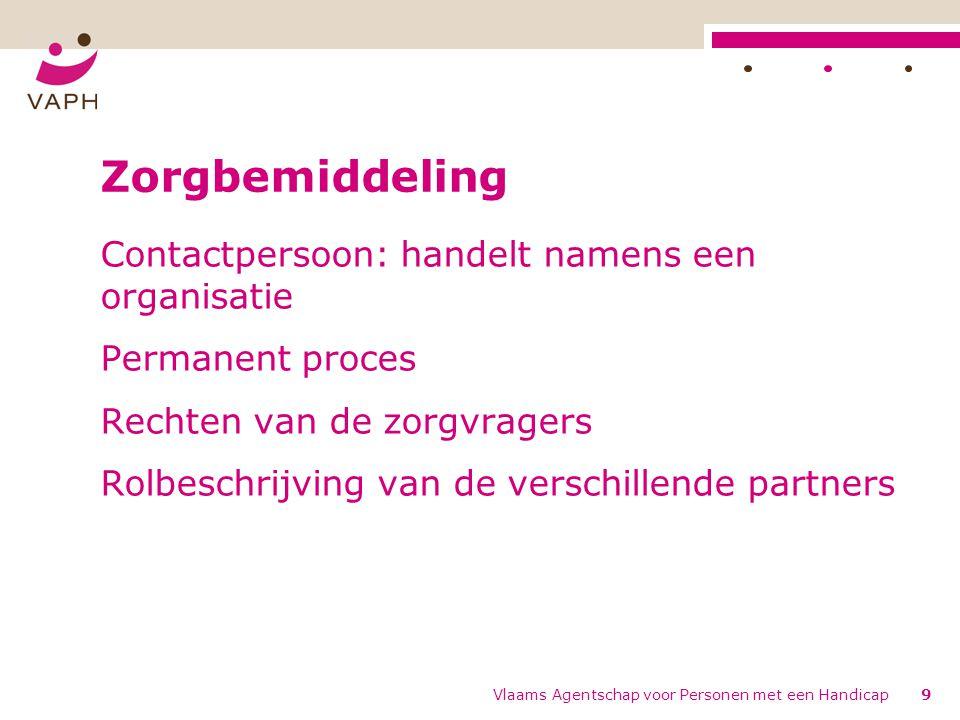 Zorgbemiddeling Contactpersoon: handelt namens een organisatie