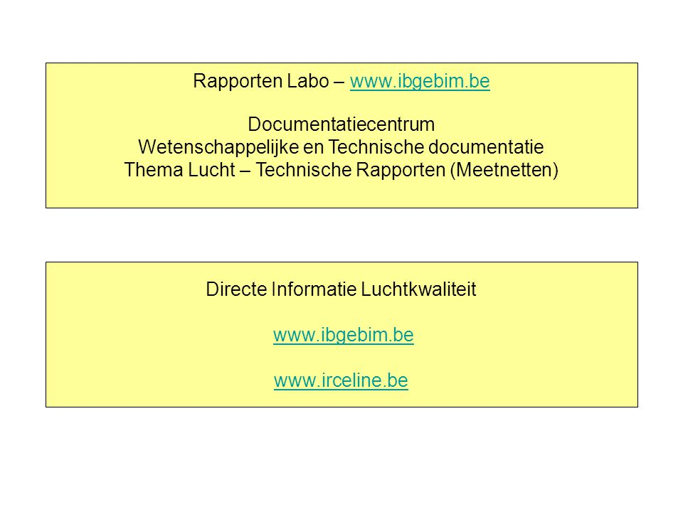 Rapporten Labo – www.ibgebim.be Documentatiecentrum