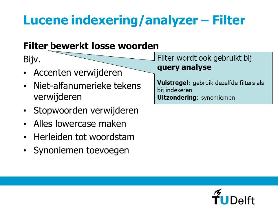 Lucene indexering/analyzer – Filter