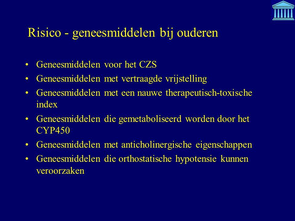 Risico - geneesmiddelen bij ouderen