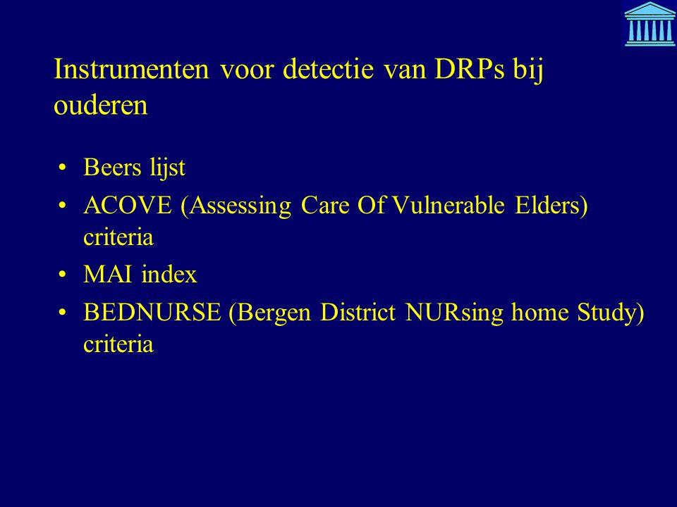 Instrumenten voor detectie van DRPs bij ouderen