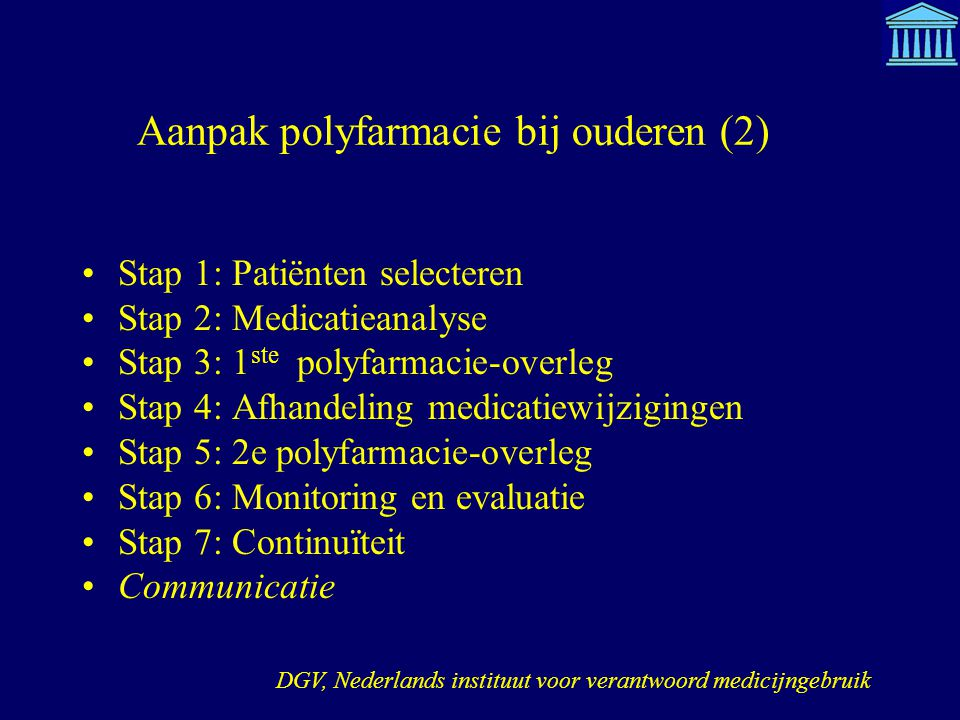 Aanpak polyfarmacie bij ouderen (2)