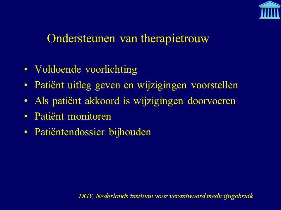 Ondersteunen van therapietrouw