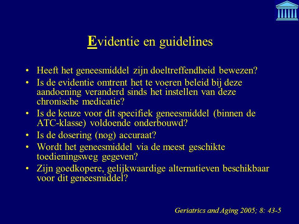 Evidentie en guidelines
